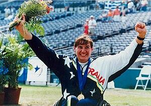 Louise Sauvage - Image: 61 ACPS Atlanta 1996 Track Louise Sauvage
