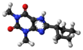8-Cyclopentyltheophylline 3D ball.png