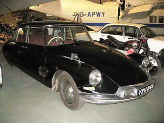 Autonomous car - The TRL's modified 1960 Citroën DS19 to be automatically controlled at the Science Museum, London.