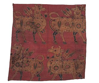 8th century - 8th century silk fragment, central Asia