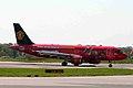 9M-AFC A320-214 Air Asia 1 (MUFC logojet right side) MAN 05APR06 (5822405332).jpg