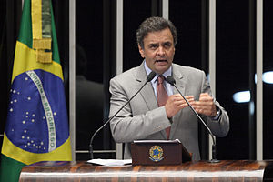 Aécio Neves - Aécio at the Senate on 25 June 2013