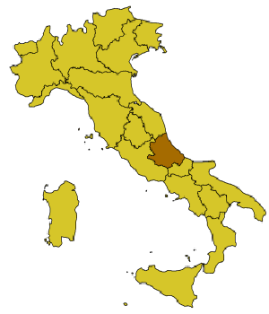 Onna (L'Aquila) - Location of Onna in Italy