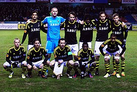 AIK starting lineup (before AIK-PSV Eindhoven, 2012).jpg