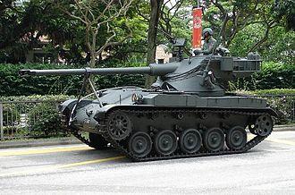 Oscillating turret - AMX-13
