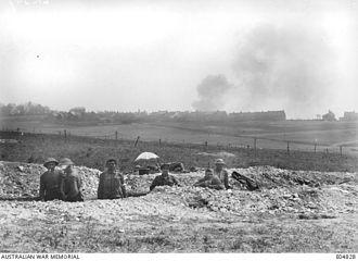 First Battle of Villers-Bretonneux - Australian troops near Villers-Bretonneux, 2 May 1918