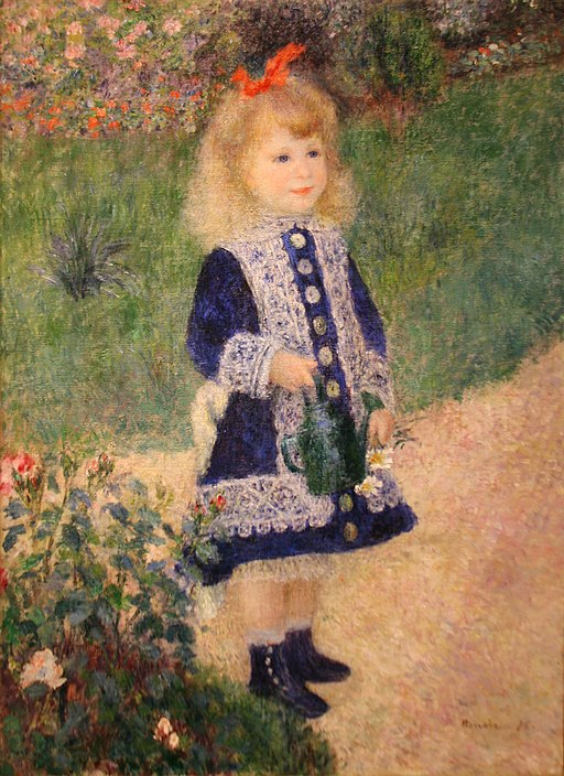 A Girl with a Watering Can by Auguste Renoir (4988594010)