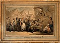 A angry mob of villagers protesting outside the house of a d Wellcome V0010962.jpg