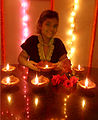 A collection of Diwali festival lamps Hindu culture religion rites rituals sights.jpg