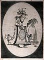 A collection of flowers in ornamental arrangement with garla Wellcome V0043102.jpg
