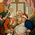 A doctor examining an obese man and his wife and servant Wellcome V0010975.jpg