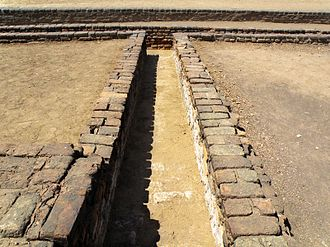 Drainage - Remains of a drain at Lothal circa 3000 BC