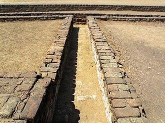 Drainage - Remains of a drain at Lothal circa 3000 BC