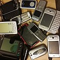A few years of mobile digital devices -mobility -cellphones -pdas -Clie -palmpilot (22101865264).jpg