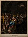 A goddess sits among a crowd of mythological figures with mu Wellcome V0007509.jpg