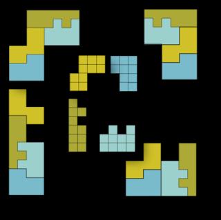 Self-tiling tile set