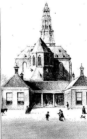 Der Aa-kerk - Image: Aa kerk in de 2e helft van de 19e eeuw