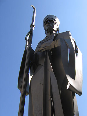 Abbot Oliba - Statue of Oliba in Vic
