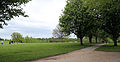 Across park towards west from the Stable Block at Wollaton Park, Nottingham, England.jpg