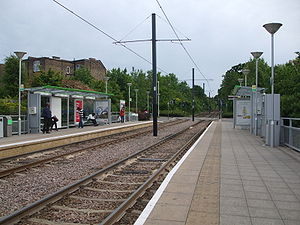Addiscombe tram stop - Addiscombe tram stop, viewed from the north.