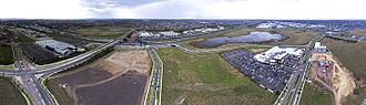 Williams Landing, Victoria - Aerial panorama of Williams Landing, facing the M1 freeway