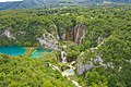 Aerial view of the landscape in Plitvice Lakes National Park, Croatia (48607300338).jpg