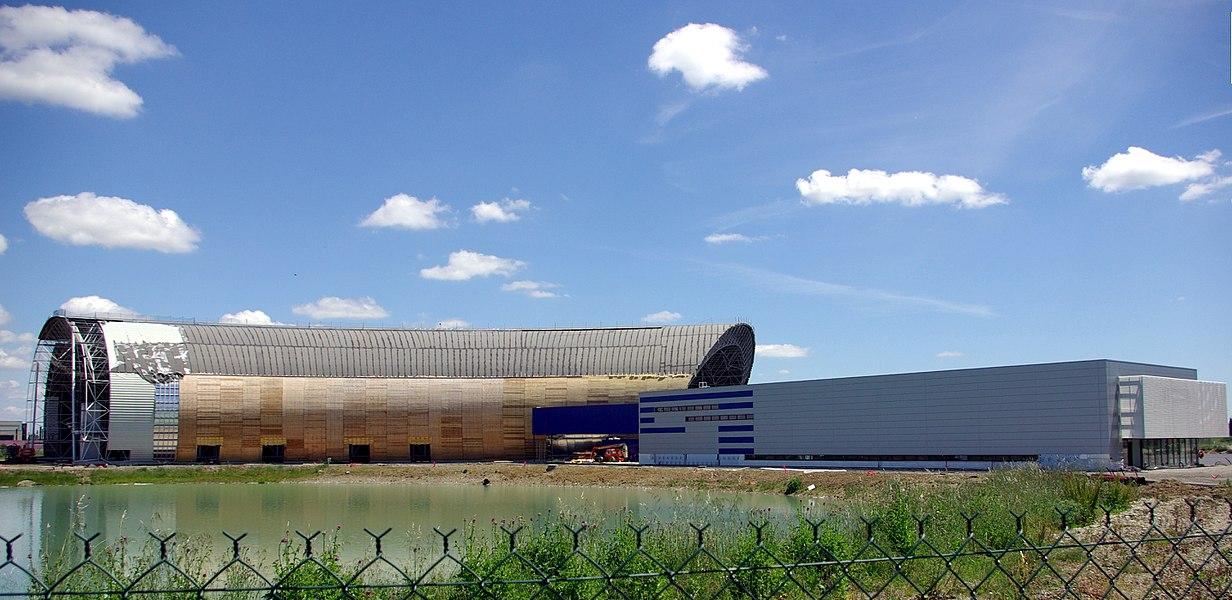 Construction du musée Aeroscopia fin mai 2013.
