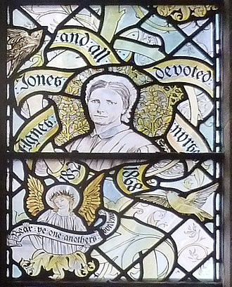 Agnes Jones - Agnes Jones detail from a window in Liverpool Anglican cathedral