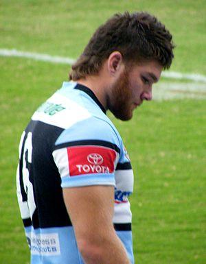 Ahmad Ellaz - Ellaz playing for Cronulla in 2009