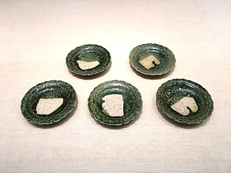 Oribe ware - Monochrome Oribe ware