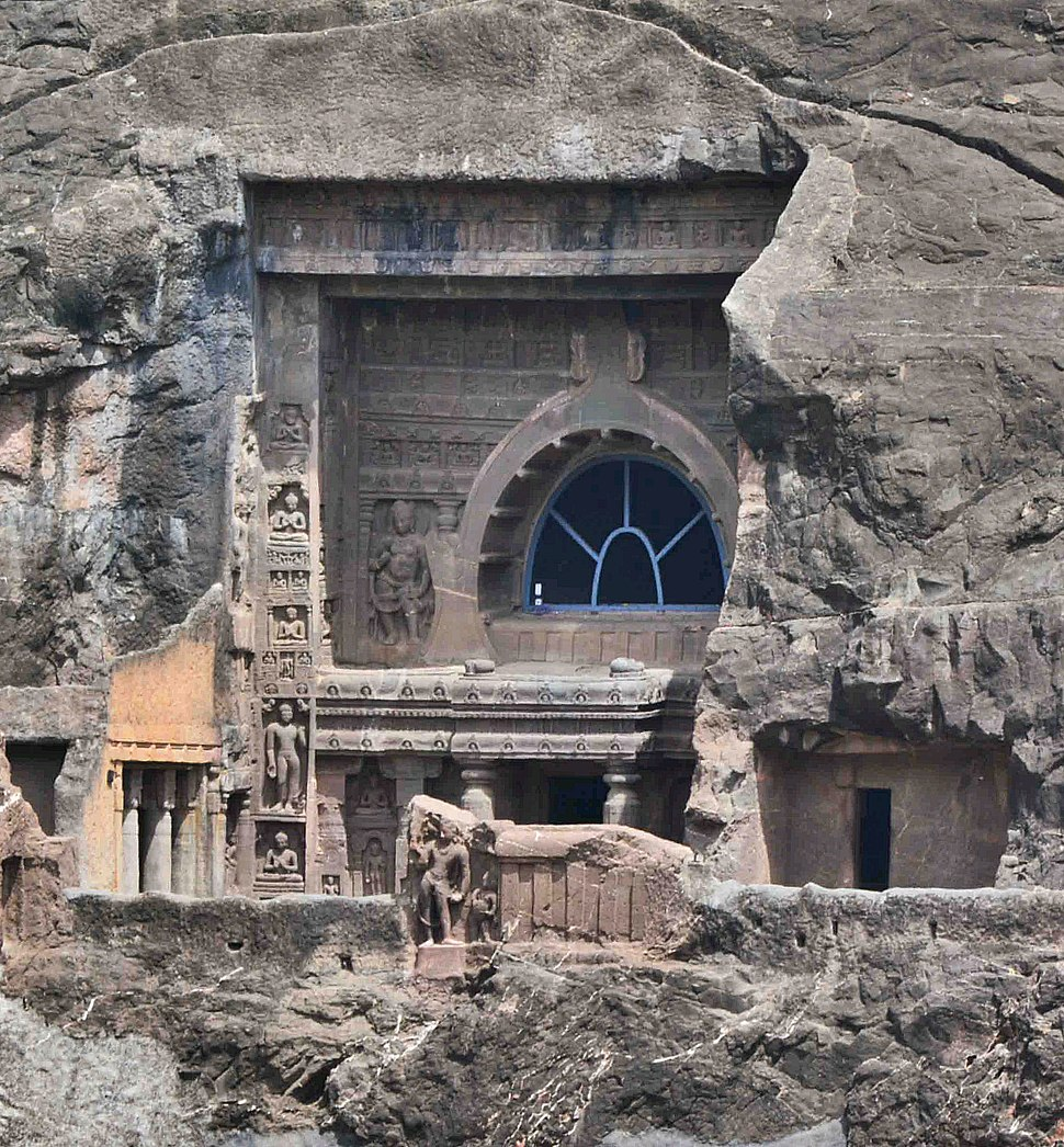 Ajanta Cave 19 outside view