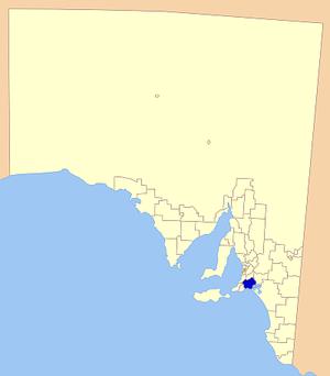 Alexandrina Council - Location of Alexandrina Council in Australia
