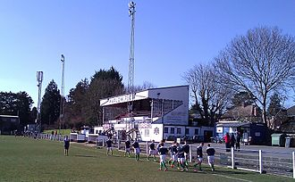 Marlow F.C. - The main stand at the Alfred Davis Memorial Ground