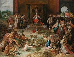 Allégorie de l'abdication de l'empereur Charles V à Bruxelles
