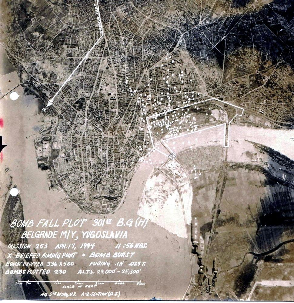 Allied bombardement of Belgrade Apr 17 1944