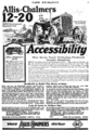 Allis-Chalmers tractor advert in Farm Mechanics May 1921 v5 n1 p3.png
