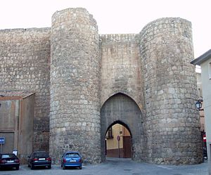 English: Puerta de Herreros, en Almazán (Soria...