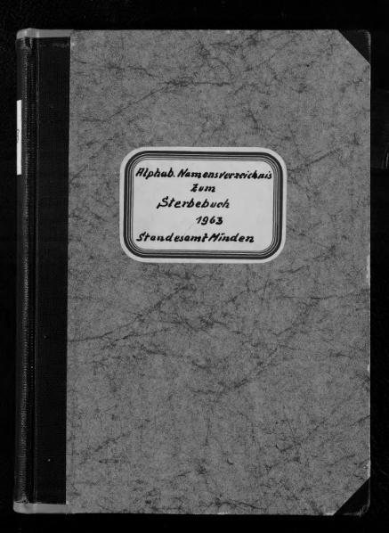 File:Alphabetisches Namensverzeichnis zum Sterberegister des Standesamtes Minden, 1963.djvu