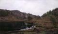 Amaldus Nielsen - In a lonely Place. (Hoven near Mandal) - Ensomt sted. (Hoven ved Mandal) - Nasjonalmuseet - NG.M.00619.png