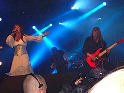 Amberian Dawn on Metal Female Voices Fest, 2009.