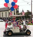 American Folk Artist Warren Kimble in the Brandon Independence Day Parade.jpg