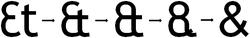 Ontwikkeling van de ampersand