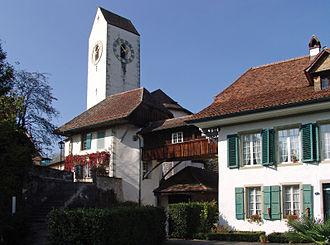 Amsoldingen - Amsoldingen Church and rectory