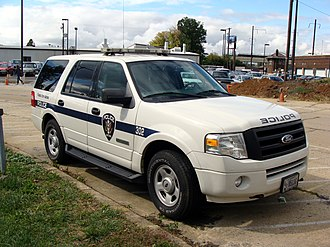 Railroad police - An Amtrak Police SUV