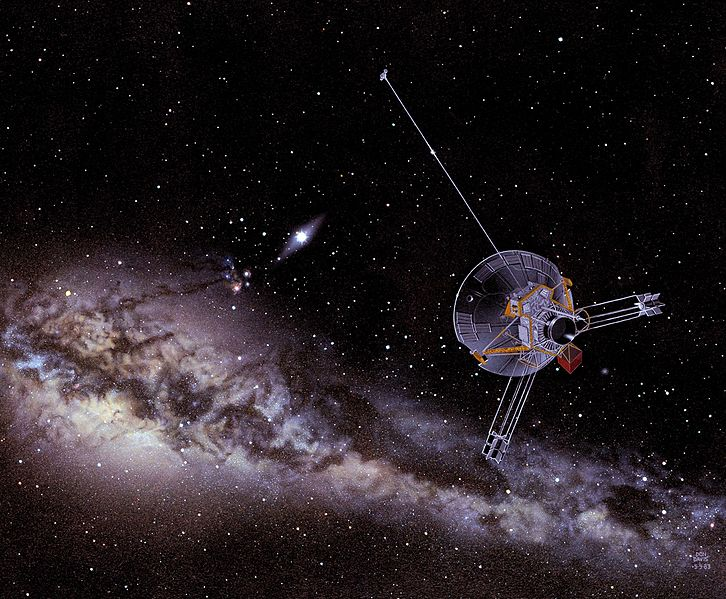 File:An artist's impression of a Pioneer spacecraft on its way to interstellar space.jpg