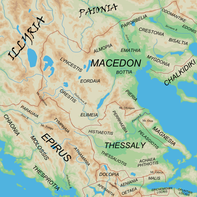 Ancient Regions Epirus and Macedon