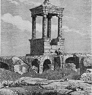 Al-Dana, Syria - The Roman pyramid tomb.