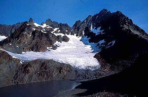 Mount Anderson (Washington) - Mount Anderson above Anderson Glacier
