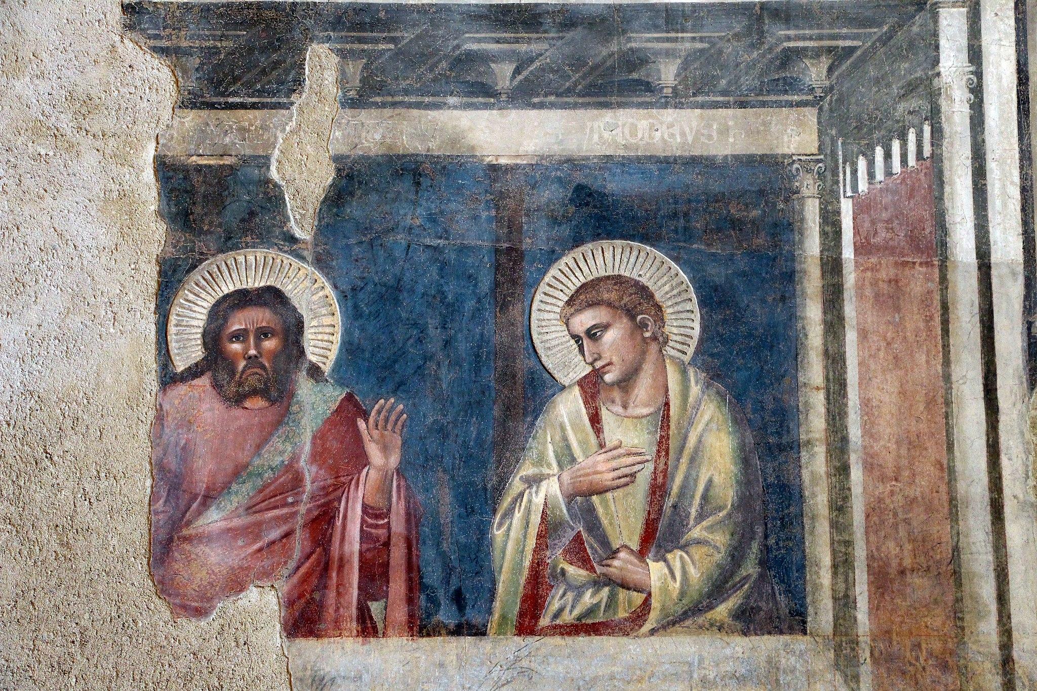 Andrea Orcagna, Cenacolo, particolare, Santo Spirito (Fondazione Salvatore Romano) (1365
