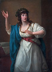 Portrait of the Impromptu Virtuoso Teresa Bandettini-Landucci of Lucca